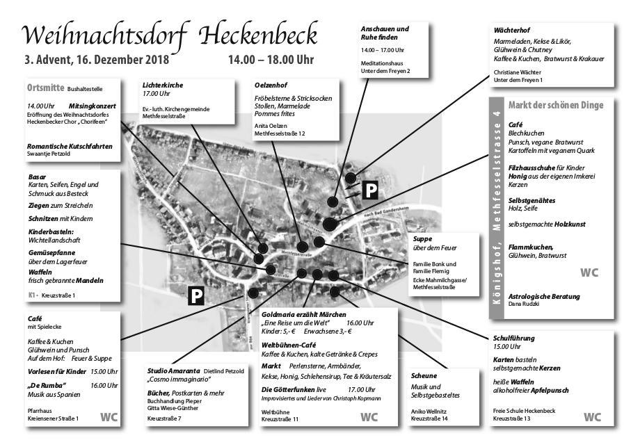 Weihnachtsdorf (jetzt mit Lageplan)